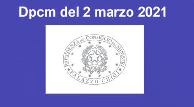 D.P.C.M. 02 marzo 2021
